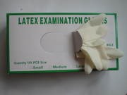 Safe-Touch Latex Exam Gloves,  Lightly Powdered,  Case of 10/100s.......