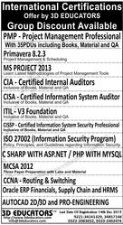 Professional Certifications Offers By 3D Educators