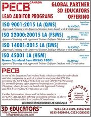 Lead Auditor Programs with Certification By PECB CANADA