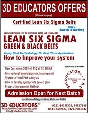 Lean Six Sigma Green and Black Belt Training