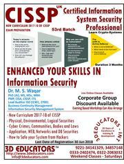 CISSP course offerd by 3D Educators