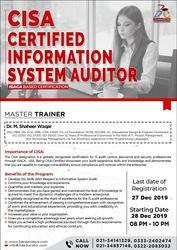 Certified Information Systems Auditor - CISA