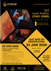 ISO Lead Auditor 27001 (ISMS) Information Security Management System