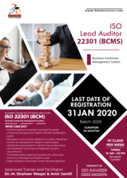 ISO 22301 LEAD AUDITOR TRAINING & CERTIFICATION