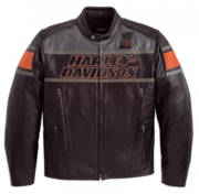 Men's Classic Harley Davidson Rumble Leather Motorcycle Jacket